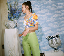 Load image into Gallery viewer, CAPE TROUSER IN LIME - Maryam Nassir Zadeh