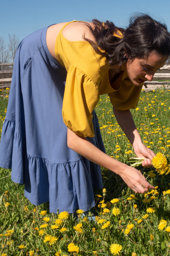 QUINCE BLOUSE IN SUNFLOWER