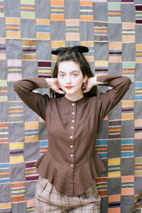 ROSA BLOUSE IN CHESTNUT - Town Clothes