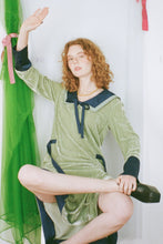 Load image into Gallery viewer, JO DRESS IN SAGE/NAVY