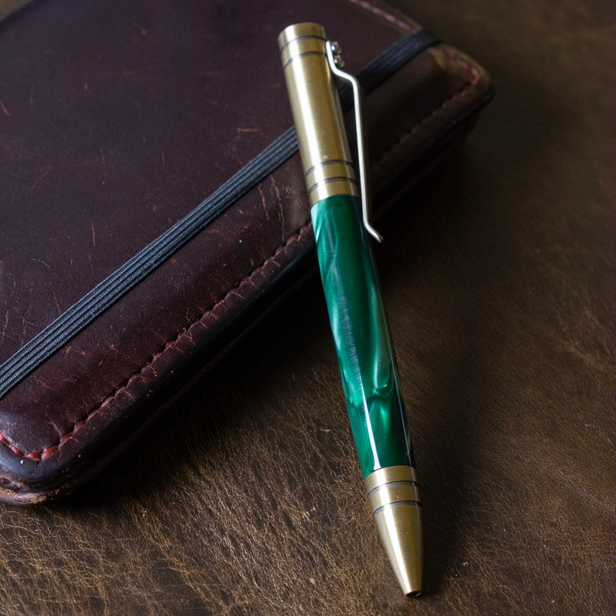 The Aroostook | Handmade Resin Ballpoint Bolt-Action Pen