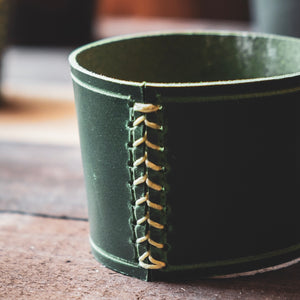 The Owl's Head | Leather Beverage sleeve