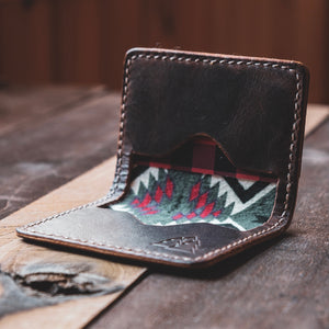The Scout | Three pocket lined card wallet