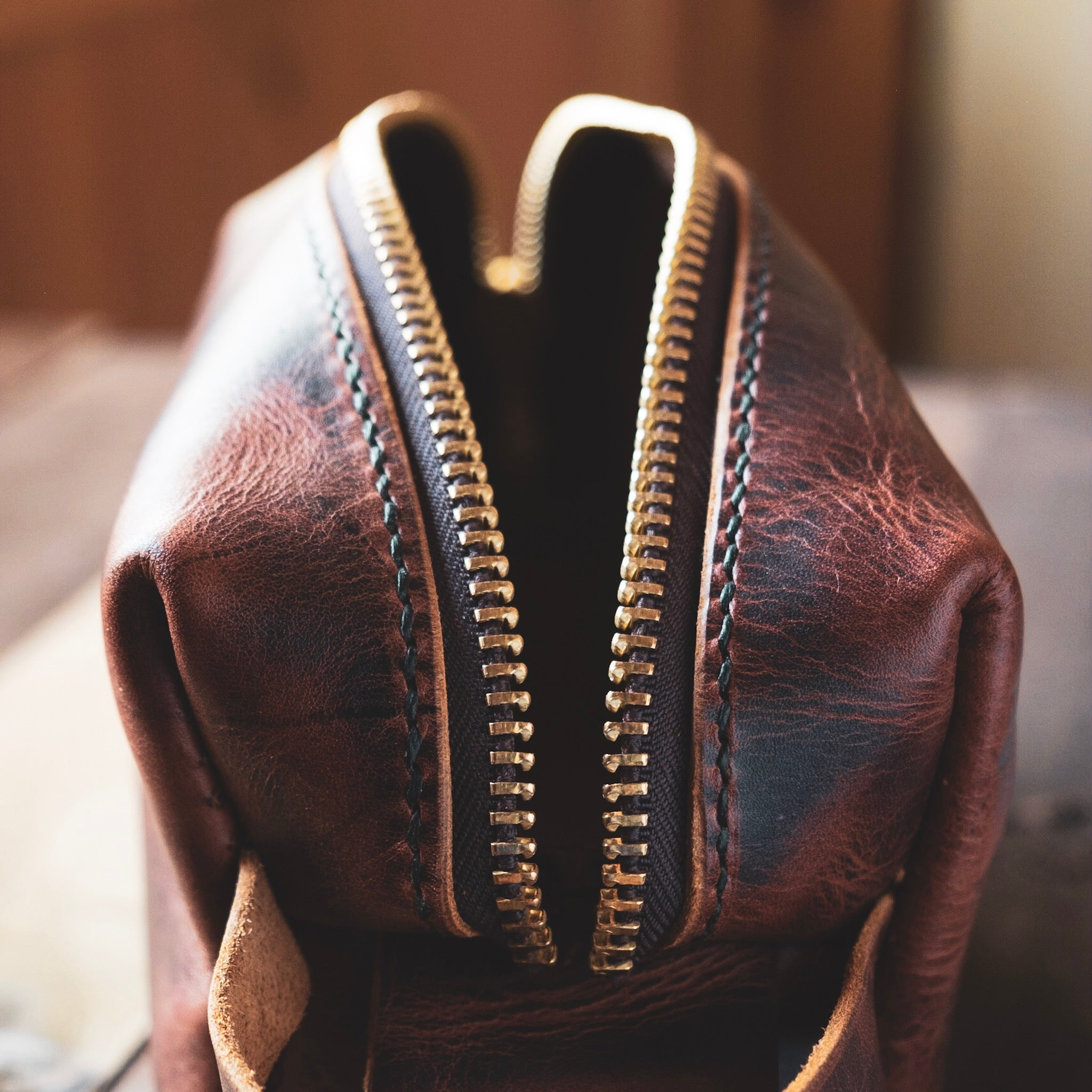 The Pemi | Handmade leather Dopp Kit