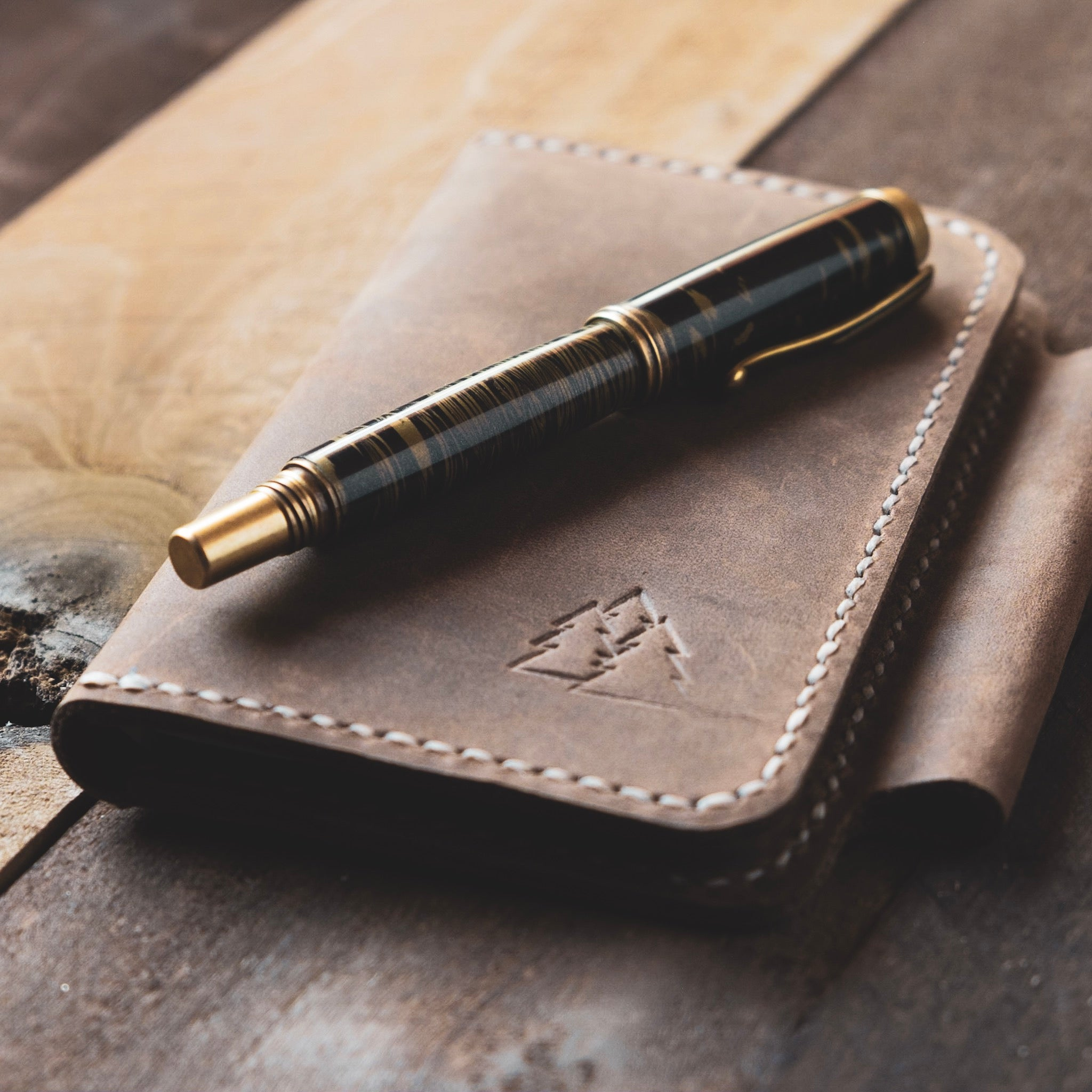 The Falmouth | Leather Field Notes Journal Cover with Pen Loop