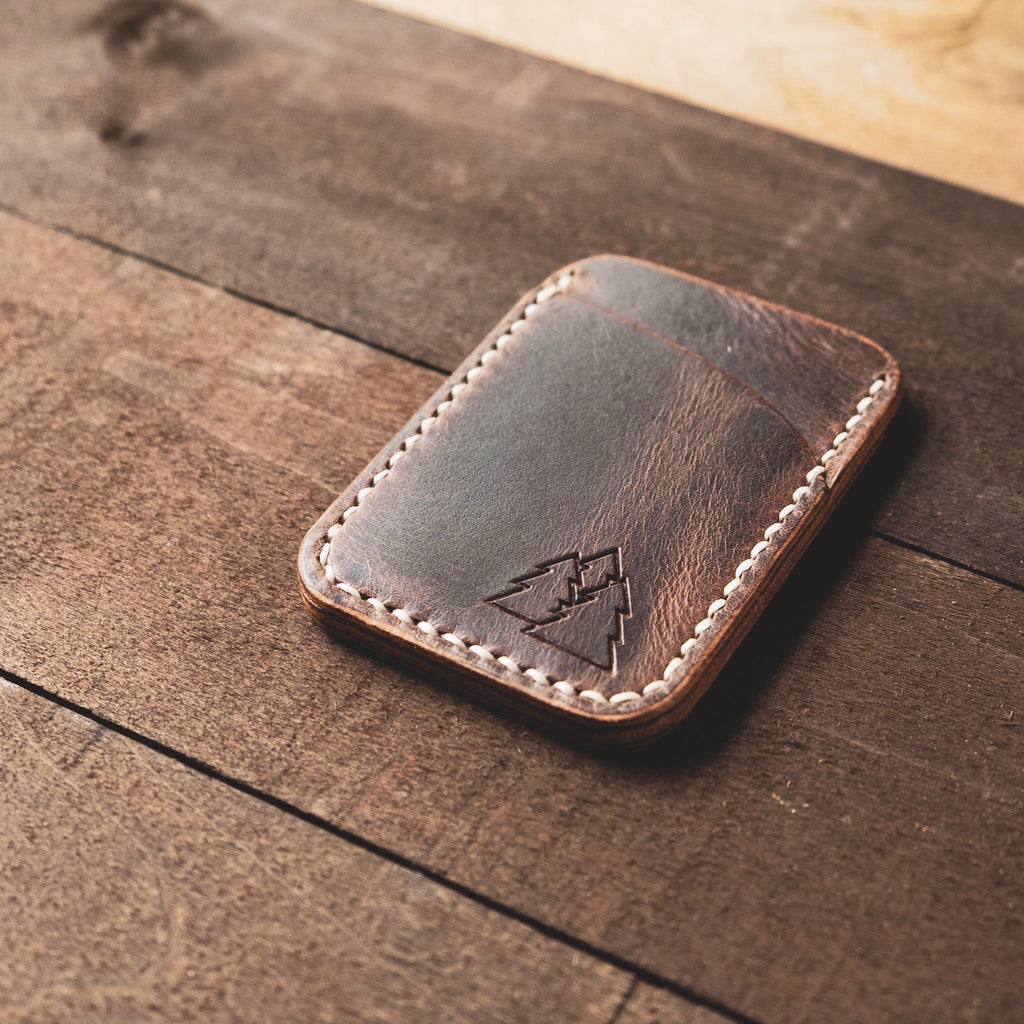 The Caribou | vertical leather mini card wallet
