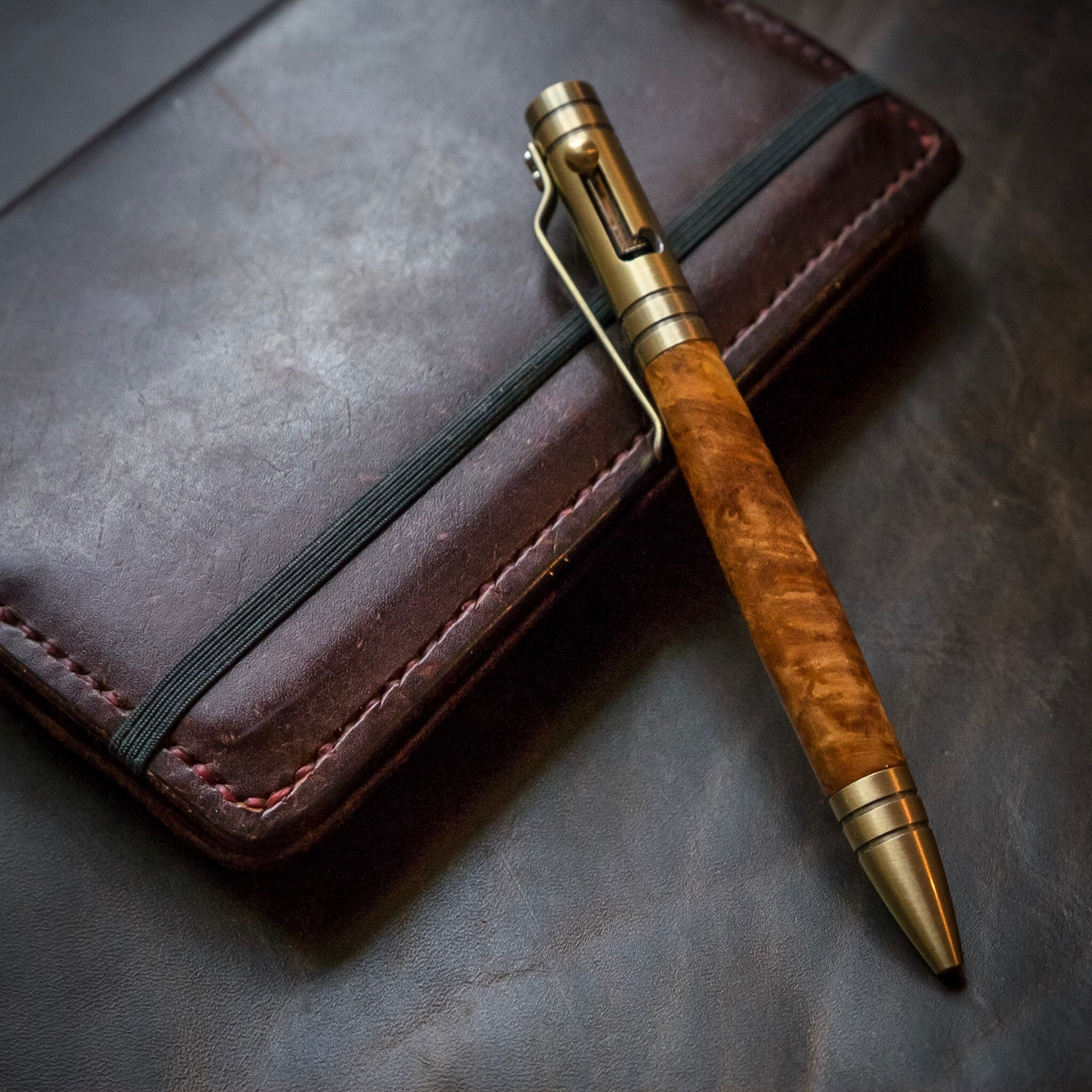 The Aroostook | Handmade Wood Ballpoint Bolt-Action Pen