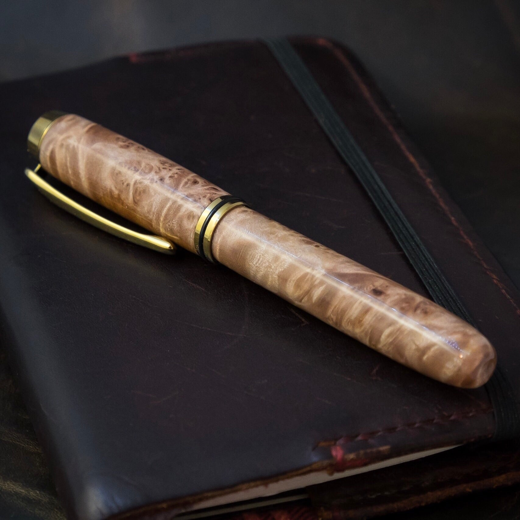 The Kennebec | Burl Wood Fountain Pen