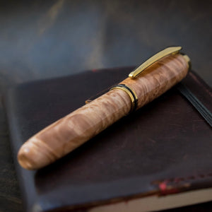 The Kennebec | Maple Burl Wood Fountain Pen