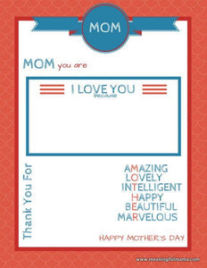 Marvelous Mother's Day Printable