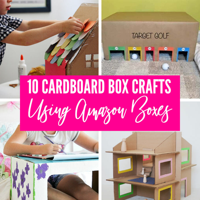 Check out these cardboard box activities for kids! With everyone staying at home and your Amazon boxes stacking up, utilize them instead of just tossing in the trash