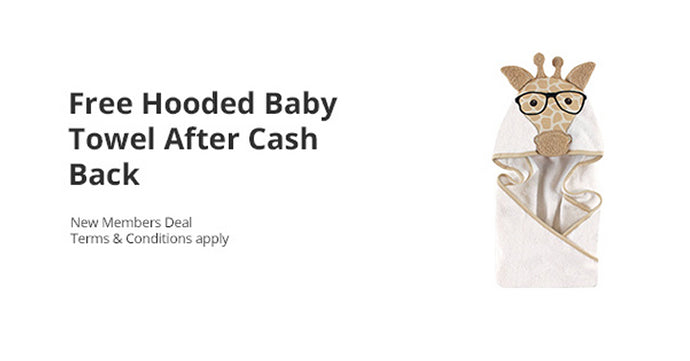 Awesome Freebie! Get a FREE Hooded Baby Towel from Walmart and TopCashBack!