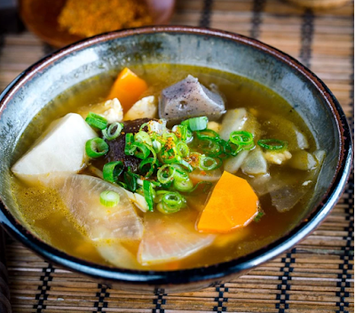 Originally created as a Buddhist temple cuisine, Kenchinjiru  is a clear soup cooked with root vegetables, tofu, shiitake and kombu stock