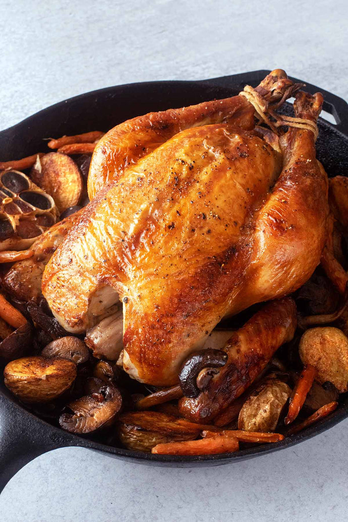 This best brined roast chicken is the best method for brining chicken we've ever experienced as featured in The Washington Post