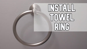 How to install a towel ring DIY video #towelring #towel #diy #bathroom #homezone by Big Al Repairs (2 years ago)