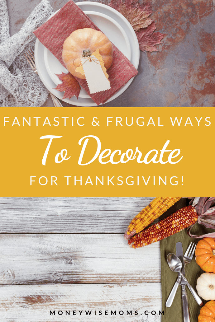 Enjoy a beautiful home this fall with these DIY Thanksgiving decor ideas! All are under $10 to help you stay on budget this holiday season.
