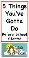 5 Things You've Gotta Do Before School Starts!