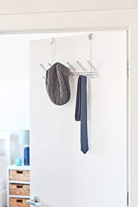 Budget friendly interdesign classico over door organizer hooks 6 hook storage rack for coats hats robes or towels chrome