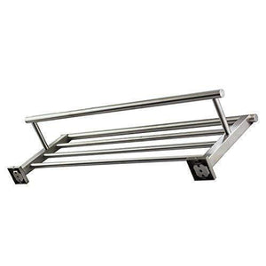 Exclusive qt home decor premium modern single hanging quadruple towel rack bar w square base 24 inches brushed finish stainless steel water and rust proof wall mounted easy to install