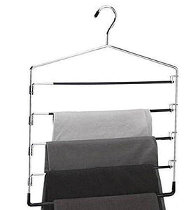 Buy organize it all 5 tier swinging arm pant rack stainless steel