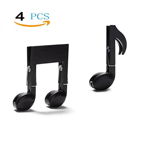 Sealing Clips,File Clamp,Clothespin Hanger,Multifunctional Music Note Shape Small Clip,Decorative Clips,Book Stand Page Holder Music Teacher Gift Mark Photo Binder Zerhhoa Musical Note Clips 2 Sets