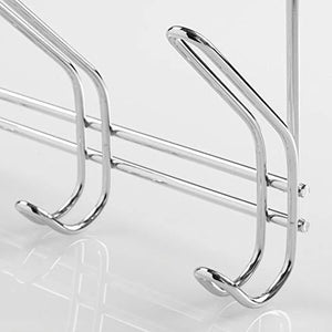 The best interdesign 43912 classico over door storage rack organizer hooks for coats hats robes clothes or towels 3 dual hooks chrome
