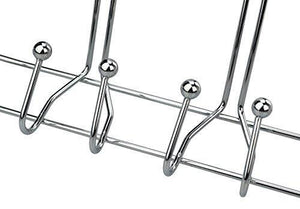 On amazon surpahs heavy duty over the door 15 hooks organizer rack chrome finish
