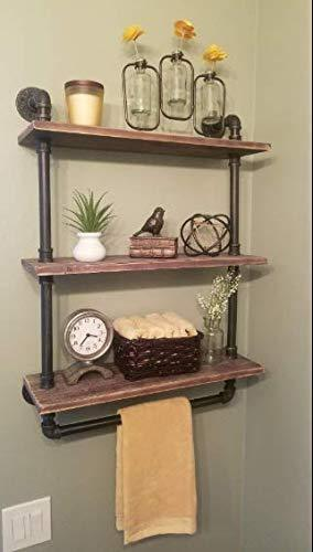 Kitchen warm van industrial vintage bathroom towel rack wall mount towel pipe shelf bar organization wine racks kitchen accessories storage tool cabinet 24 l x 8 6w x 33 5 h inch