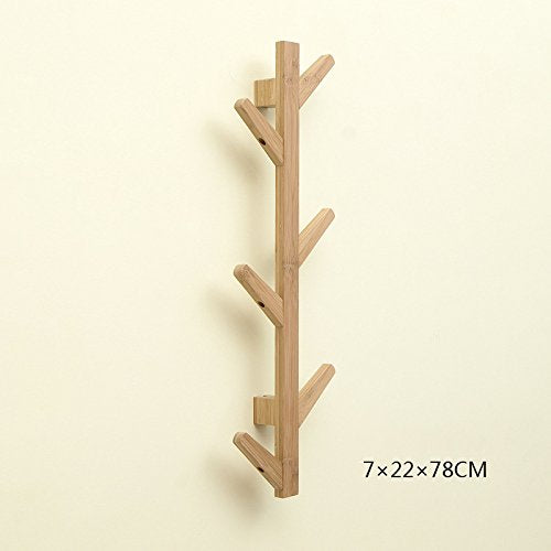 Wall Hook, Coat Rack, Japanese Hanger, For Living Room/Bedroom / Wall/Hotel, White - Wood - Brown,B