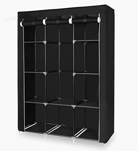 STS SUPPLIES LTD Covered Clothing Rack Towel Hanger Bar Holder Shirt Plastic Metal Hanging Organizer Storage Free Standing Portable Laundry Black Drying & Ebook by AllTim3Shopping.