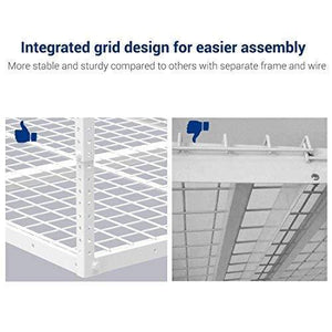 Budget fleximounts 2 pcs 3x6 overhead garage adjustable ceiling storage rack 72 length x 36 width x 40 height 2 rack package white
