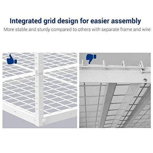 Shop for fleximounts 2 piece 3x8 ft overhead garage storage rack set ceiling storage racks adjustable heavy duty 96 length x 36 width x 40 height white