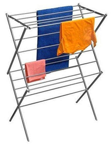 Products ybm home 2 tier deluxe foldable clothes steel drying rack 1622 11