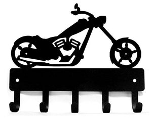 The Metal Peddler Chopper Motorcycle Motorbike #02 Key Rack Hanger - 9 inch Wide