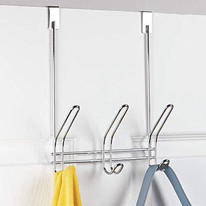 Shop here interdesign 43912 classico over door storage rack organizer hooks for coats hats robes clothes or towels 3 dual hooks chrome
