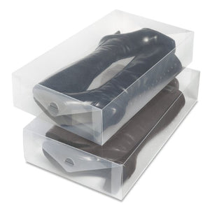 Whitmor Clear Vue Boot Box - Heavy Duty Stackable Boot Storage - (Set of 2)