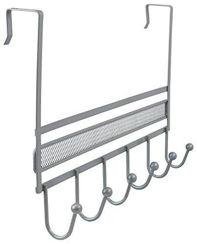 Featured decobros over the door 6 hook organizer rack silver