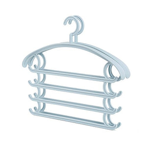 U-emember Multifunction Trouser Press Home Wardrobe Hanging Pants Hangers Scarf Admit Hanger Plastic Finishing Hanging Pants Rack 2, Springdale Blue