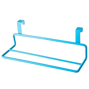 Ping Bu Qing Yun Towel Rack - Wrought Iron, Free Punching, Two Shots, Good Weight Bearing, Full Use of Space, Cabinet Door Back Towel Rack, Suitable for Bathroom, Kitchen, Dormitory - Two Colors Avai