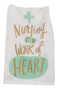 Primitives by Kathy 30773 Cotton Kitchen Towel, Nursing is A Work Of Heart