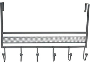 Get decobros over the door 6 hook organizer rack silver