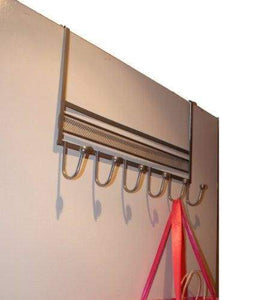 Great decobros over the door 6 hook organizer rack silver
