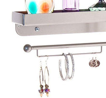 Best seller  angelynns bracelet display wall mount jewelry organizer earring holder necklace rack closet storage shelf carol satin nickel silver