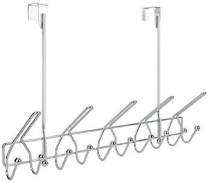 Home surpahs heavy duty over the door 15 hooks organizer rack chrome finish