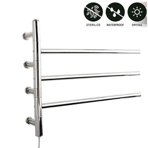 Products mengen88 wall mounted style heated towel rack stainless steel electric towel rack cloth bath towel heater heater rail 47w power