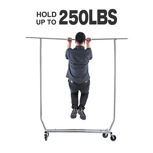 Great house day portable clothes rack portable closet rolling clothes rack foldable clothes stand commercial grade for professional use