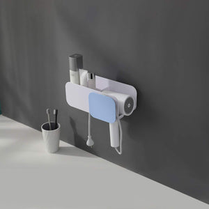 Shop here yigii adhesive hair dryer holder no drilling hair dryer rack hair care styling tool organizer holder for bathroom wall mount blow dryer holder storage