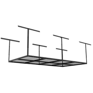 Order now adjustable garage ceiling storage racks heavy duty durable steel construction wire sturdy overhead organized simple system mounted hanging storage shelf unit bracket hangers black ebook by nakshop