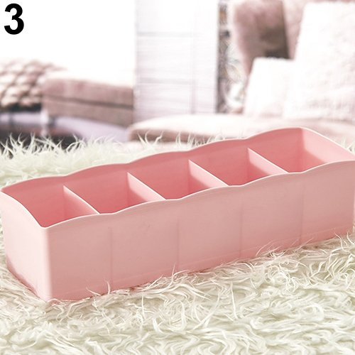 zsjhtc Fashion Plastic Drawer Closet Storage Box Underwear Socks Tie Cosmetic Organizer - Pink