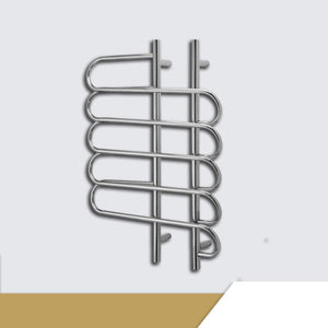 TONGTONG Wall Mount Towel Warmers,Stainless Steel Electric Heated Warmer Radiator Towel Rail Bathroom 800 600 130mm - 80W